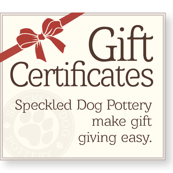 Speckled Dog Pottery Gift Certificates for sale