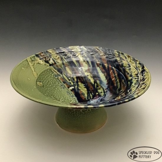 Foot Bowl in Green
