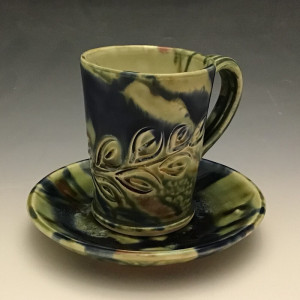 Cup and Saucer in Green 4oz