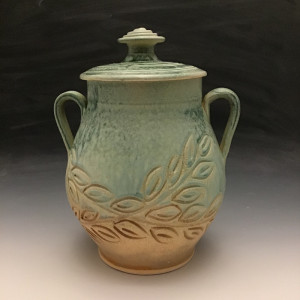 Lidded Jar in Turquoise